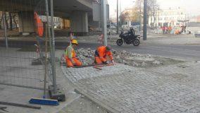 Prace brukarskie w Chorzowie