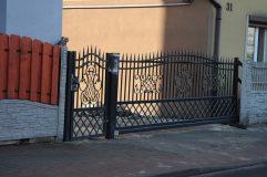Brama i furtka - ogrodzenie kute w Rudzie Śląskiej